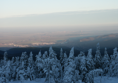 View from the Brocken to Wernigerode