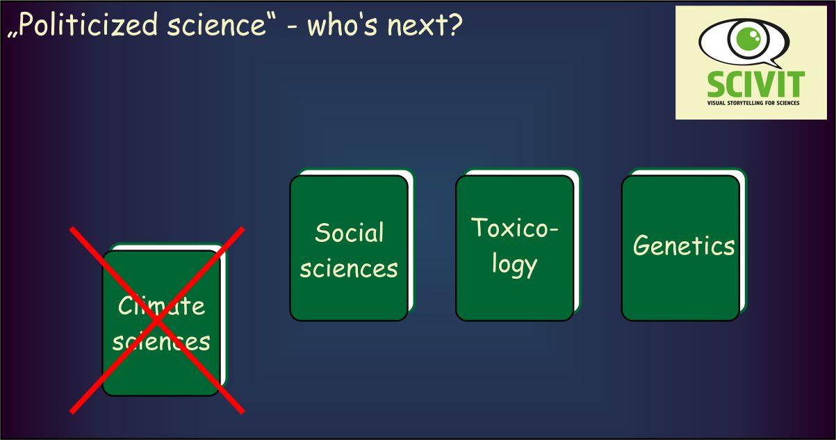 Politicized science – who's next?