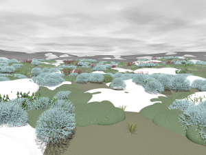 Landschaft Arktis kalt