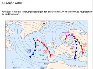 Wetterkarte - Fronten