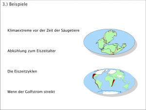 Klimageschichte - Übersicht Beispiele