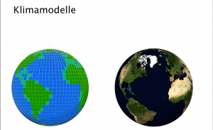 Titelbild zur Präsentation Klimamodelle