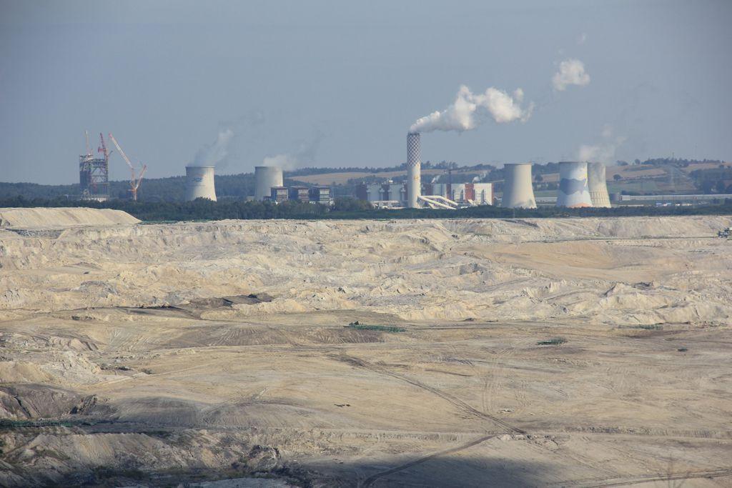 Lignite mining and power station near Bogatynia (Poland)