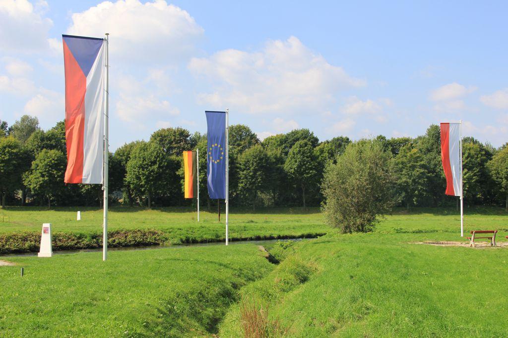 Border triangle Czech Republic-Poland-Germany
