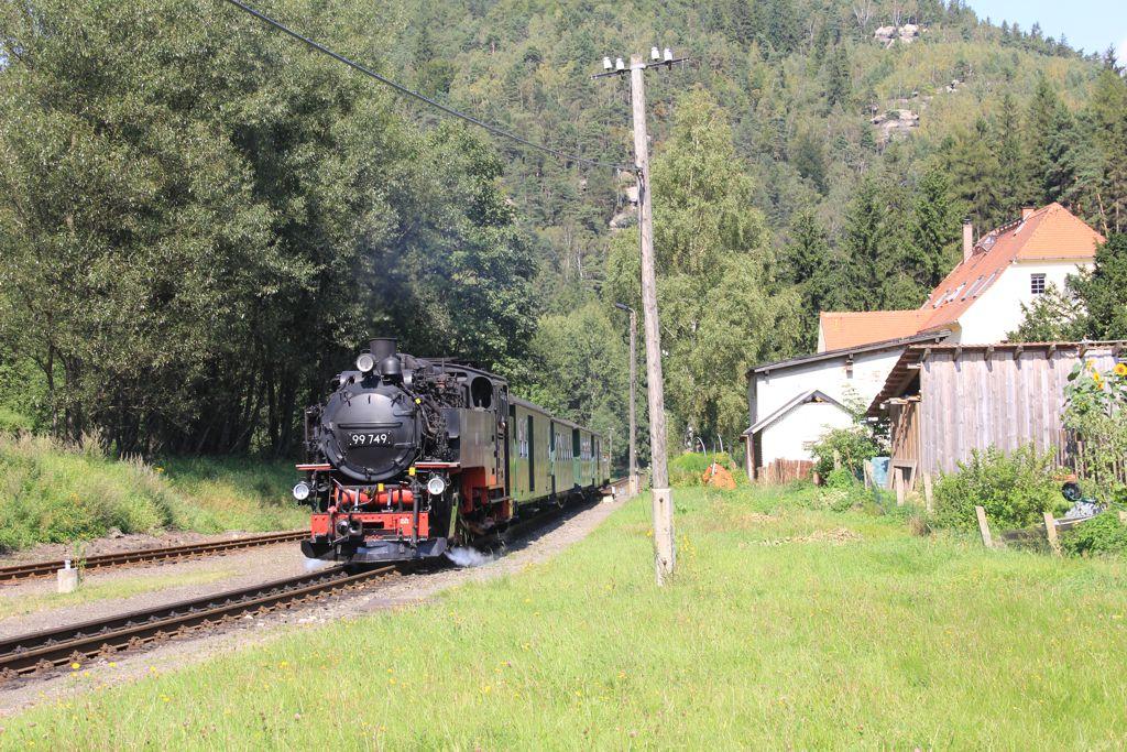 Touristic railway in the Zittau mountains